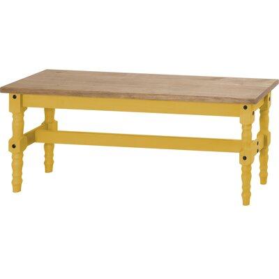 Pinard Solid Wood Bench Finish: Yellow Wash
