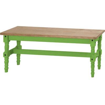 Pinard Solid Wood Bench Finish: Green Wash