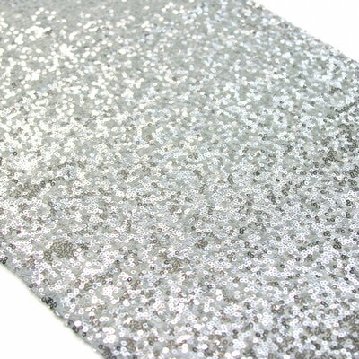 Sequin Table Runner Color: Silver