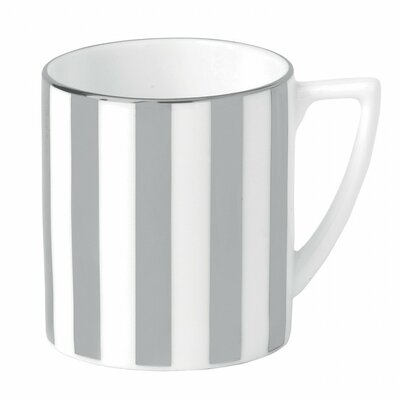 Jasper Conran Platinum Fine Bone China Striped Mini Mug
