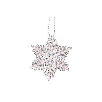 Christian Ulbricht Large Snowflake with Sparkles Ornaments