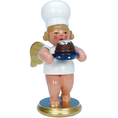 Christian Ulbricht Angel Baker Ornament with Cake