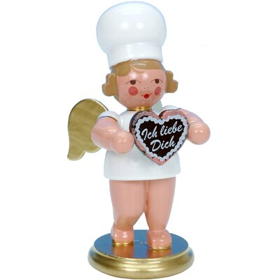 Christian Ulbricht Angel Baker Ornament with Heart