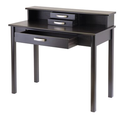 Winsome Liso Computer Desk with Hutch and Keyboard Tray