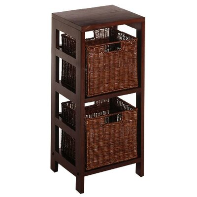 Winsome Espresso Storage Shelf And Baskets