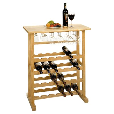 Winsome Basics 24 Bottle Floor Wine Rack