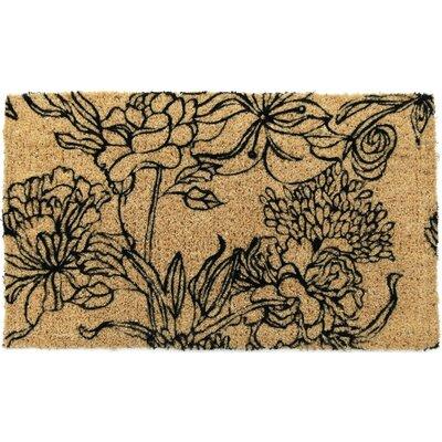 Entryways Handmade Ink Bouquet Doormat