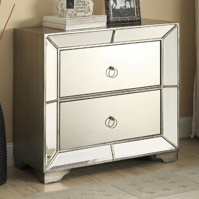 Monterey 2 Drawer Mirrored Chest