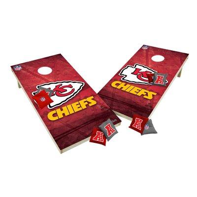 NFL XL Shields Cornhole Set NFL Team: Kansas City Chiefs