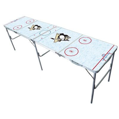 """NHL 2"""" x 8"""" Tailgate Table NHL Team: Pittsburgh Penguins"""