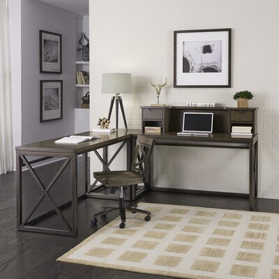 Xcel L-Shape Corner Desk with Hutch And Chair Set