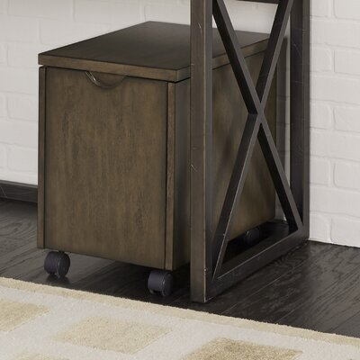 Xcel Mobile File Writing Desk with Hutch
