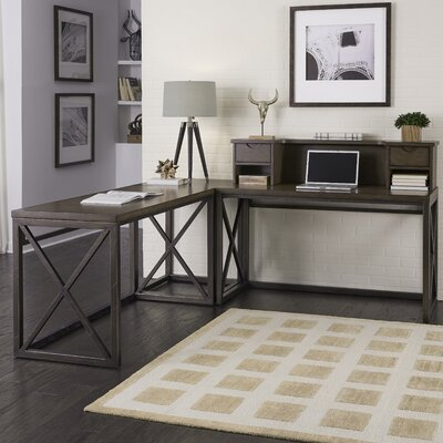 Xcel L-shape Desk with Hutch