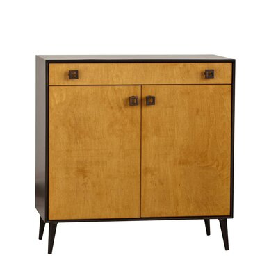 Ikeda 2 Door Accent Chest Color: Walnut Unfinished
