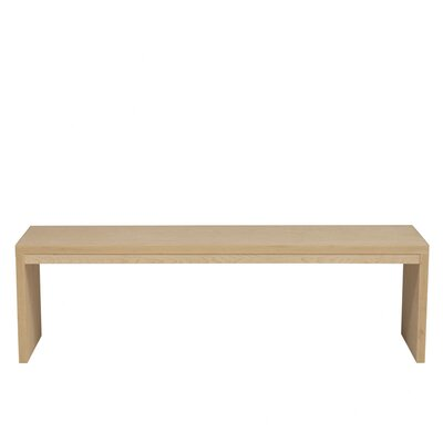 Kadon Two Seat Bench Wood Veneer: Maple, Color: Amber
