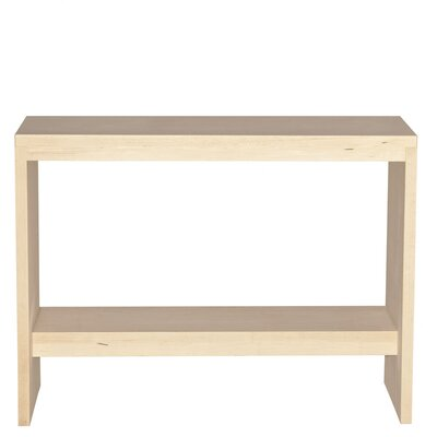 Kadon Console Table Wood Veneer: Maple, Color: Black