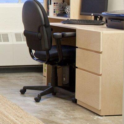 Kasie Desk Wood Veneer: Maple, Finish: Clear