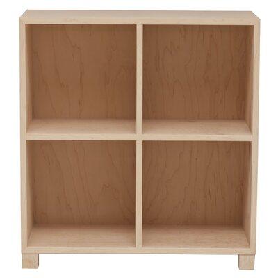 Media Multimedia Lp Record Cube Unit Bookcase Wood Veneer: Maple, Finish: Slate