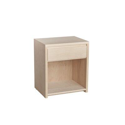 Kadon 1 Drawer Nightstand Wood Veneer: Walnut, Color: Bleached