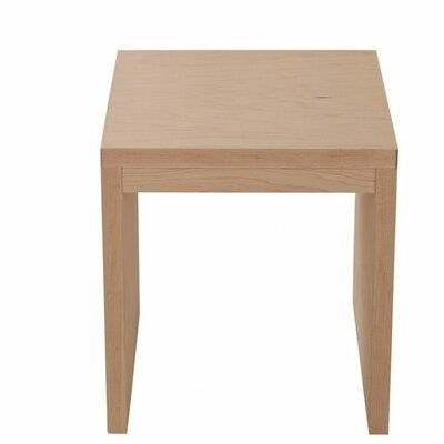 Kadon Vanity Stool Wood Veneer: Maple, Finish: Washed