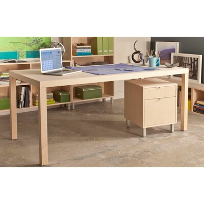 Parsons Dining Table Wood Veneer: Maple, Finish: Toffee