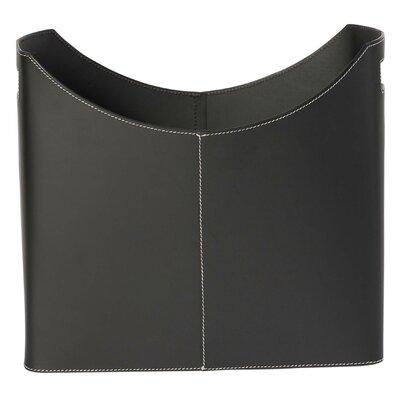 Contemporary Leather Magazine Basket