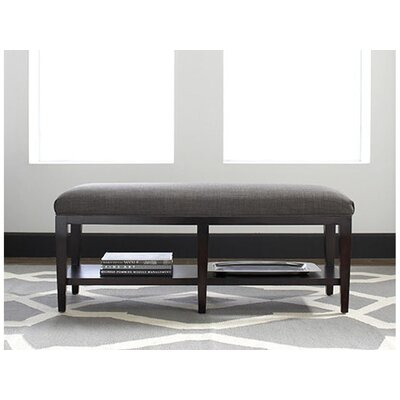 Libby Langdon Preston Upholstered Bedroom Bench Upholstery: 0358-88/Black