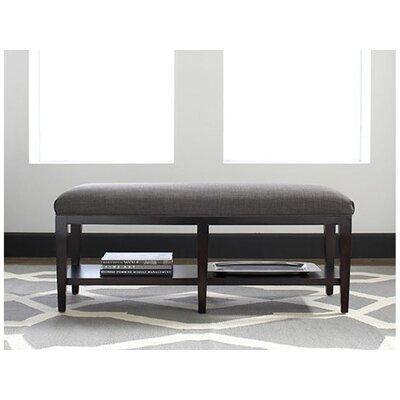 Libby Langdon Preston Upholstered Bedroom Bench Upholstery: 0358-88/Black