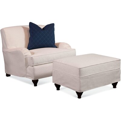 Crown Estate Armchair with Slipcover Upholstery: 0863-84/Natural