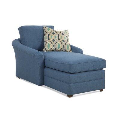 Full Chaise Lounge Upholstery: White Textured Plain