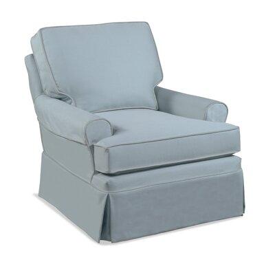 Belmont T-Cushion Swivel Armchair Slipcover Upholstery: Blue Stripe