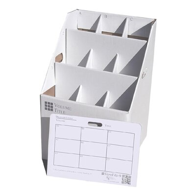 Advanced Organizing Systems 9 Slot Rolled Document Filing Box