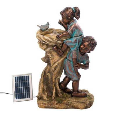 Resin Solar Cool Drink Children Fountain