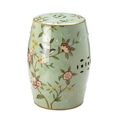 Palm Coast Floral Garden Stool