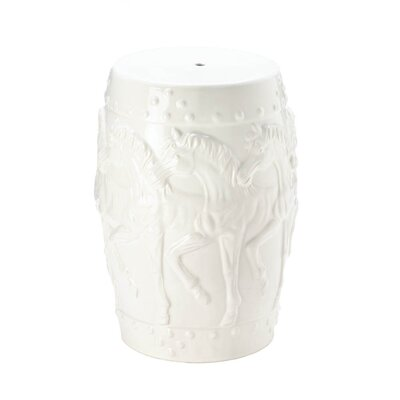 Askew Horses Ceramic Garden Stool