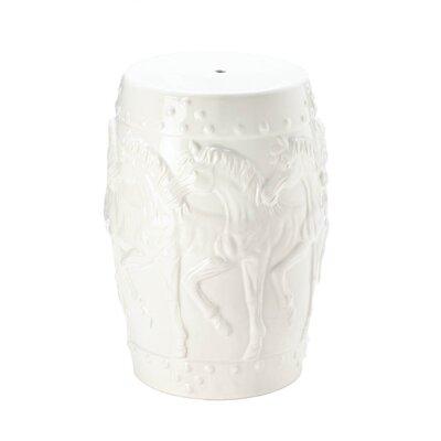 Askew Horses Ceramic Garden Stool