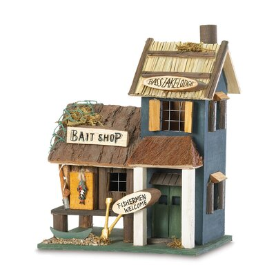 Fishing Tackle 10 in x 8 in x 6 in Birdhouse