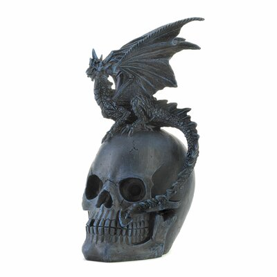 Zingz & Thingz Dragon and Skull Sculpture