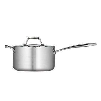 Gourmet Tri-Ply Clad 4-qt. Saucepan with Lid
