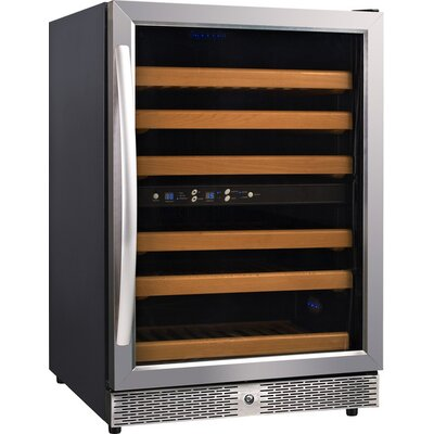54 Bottle Dual Zone Freestanding Wine Cooler