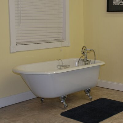 "61"" x 31"" Clawfoot Bathtub Leg Finish: Polished Chrome, Faucet Mount: Wall Mount"
