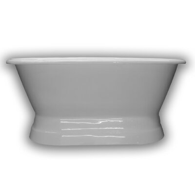 "Cast Iron Double Ended Freestanding Soaking Bathtub Size: 60"" H x 30"" W x 24"" D"