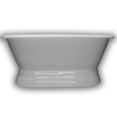 "Cast Iron Double Ended Freestanding Soaking Bathtub Size: 66"" H x 30"" W x 24"" D"