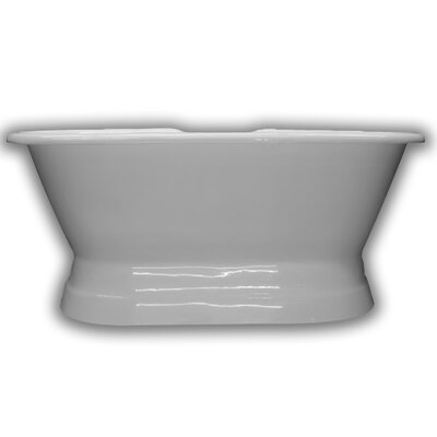 "Cast Iron Double Ended 66"" x 30"" Freestanding Soaking Bathtub"