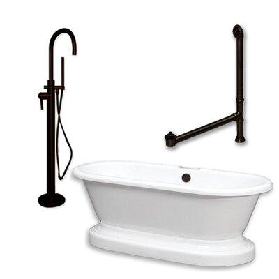 "70"" x 30"" Freestanding Bathtub Finish: Oil Rubbed Bronze"