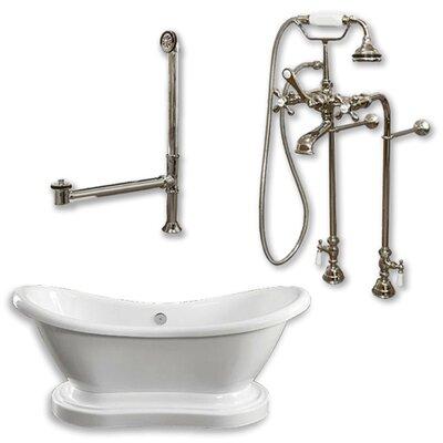 "68"" x 29"" Freestanding Bathtub Finish: Brushed Nickel"