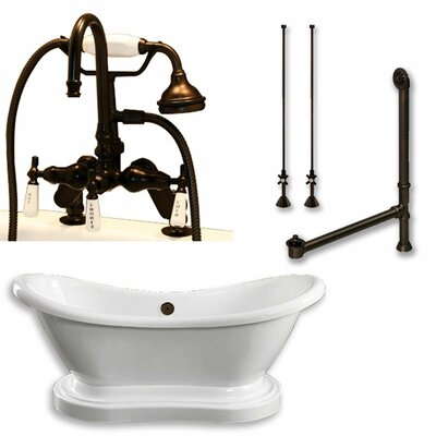 "68"" x 29"" Freestanding Bathtub Finish: Oil Rubbed Bronze"