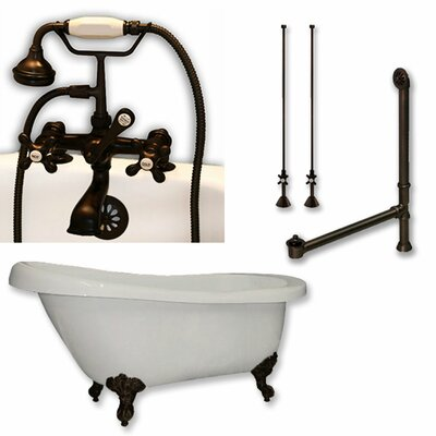 "67"" x 28"" Clawfoot Bathtub Finish: Oil Rubbed Bronze"