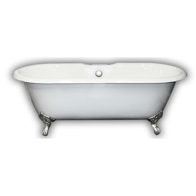 "67"" x 31"" Clawfoot Bathtub Leg Finish: Polished Chrome, Faucet Mount: Yes"