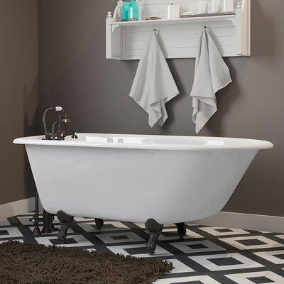 "55"" x 30"" Clawfoot Bathtub Finish: Oil Rubbed Bronze"